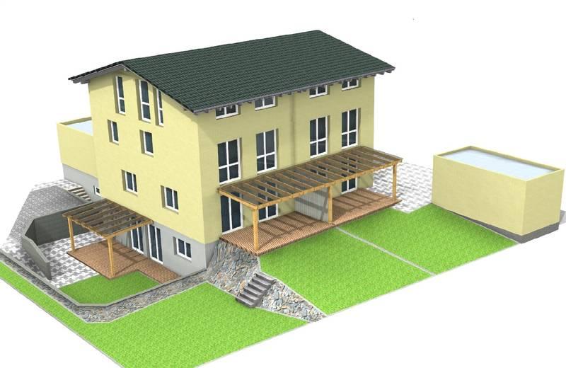 stunning doppelhaus mit einliegerwohnung images. Black Bedroom Furniture Sets. Home Design Ideas